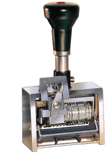 Reiner numbering machine wide frame