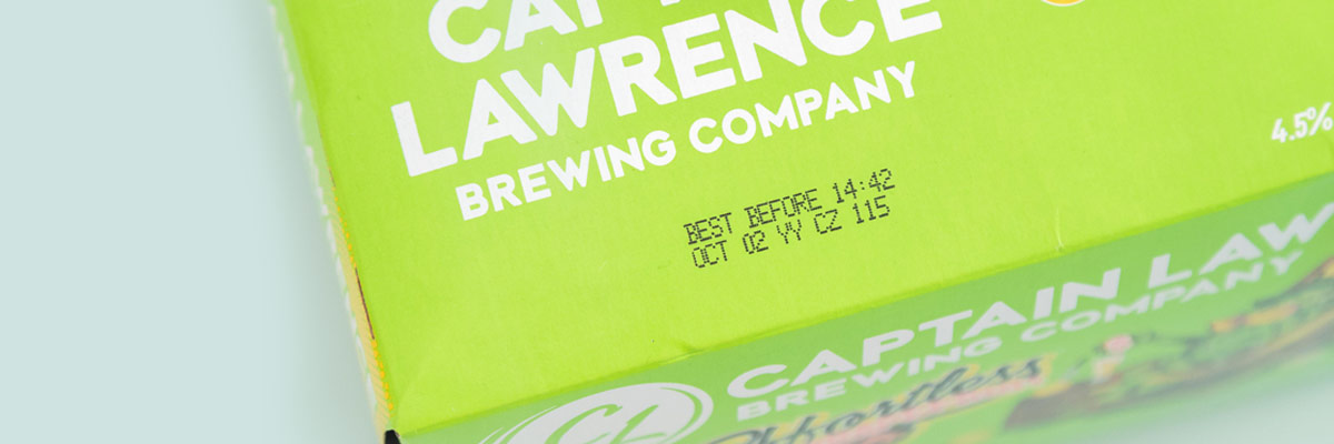beer packaging marked and coded