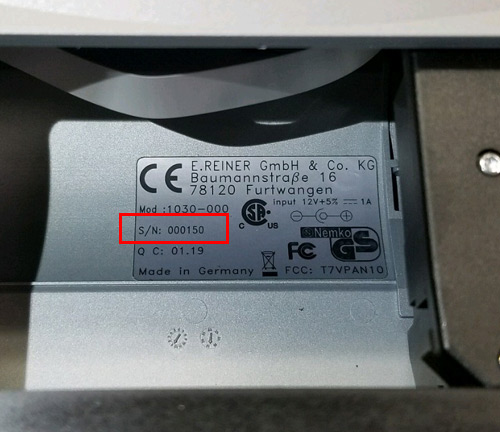 jetStamp 1025 serial number location