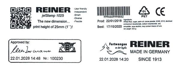jetStamp 1025 print samples