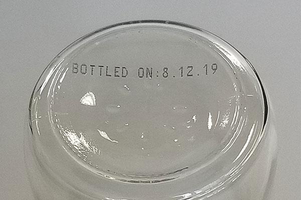 printing on glass bottle