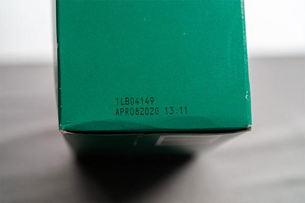 print on green cardboard box